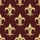 Seamless Background Pattern of Yellow Fleur de Lys - GraphicRiver Item for Sale