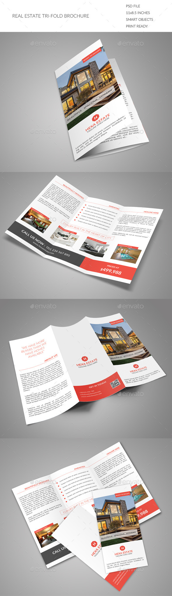 GraphicRiver Real Estate Tri-fold Brochure 9128224