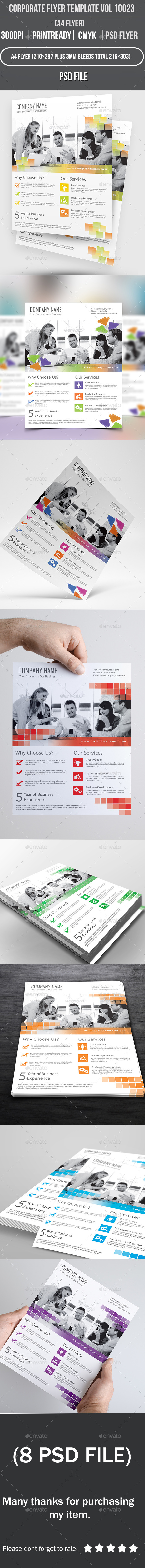 GraphicRiver Corporate Flyer Template Vol 10023 9128227