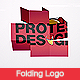 Folding Logo - VideoHive Item for Sale