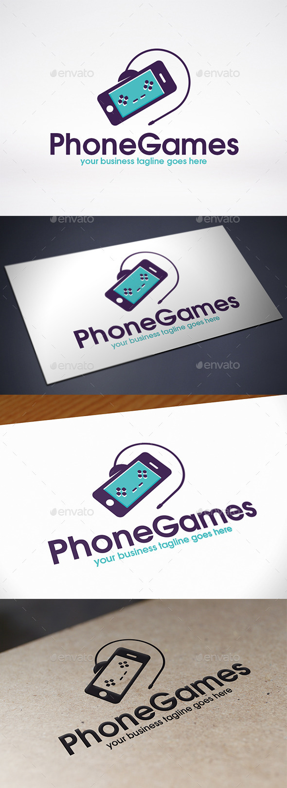Phone Game Logo Template