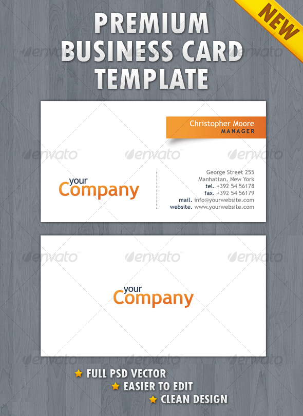 GraphicRiver Clean Business Card 115625