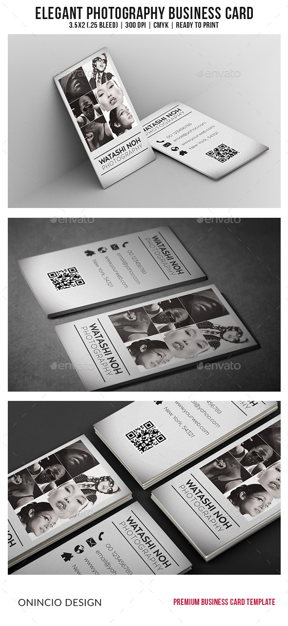 GraphicRiver Elegant Photography Business Card 9128286