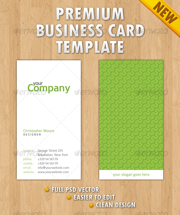 GraphicRiver Clean Business Card 108914