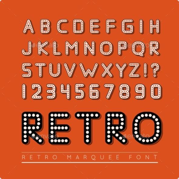 GraphicRiver Retro Marquee Font 9128683