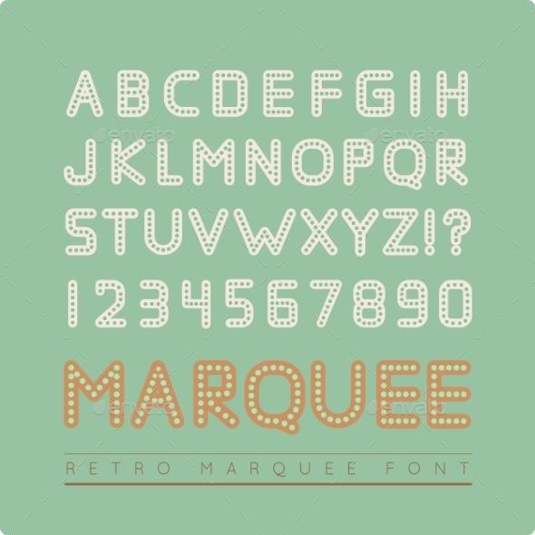 GraphicRiver Retro Marquee Font 9128736