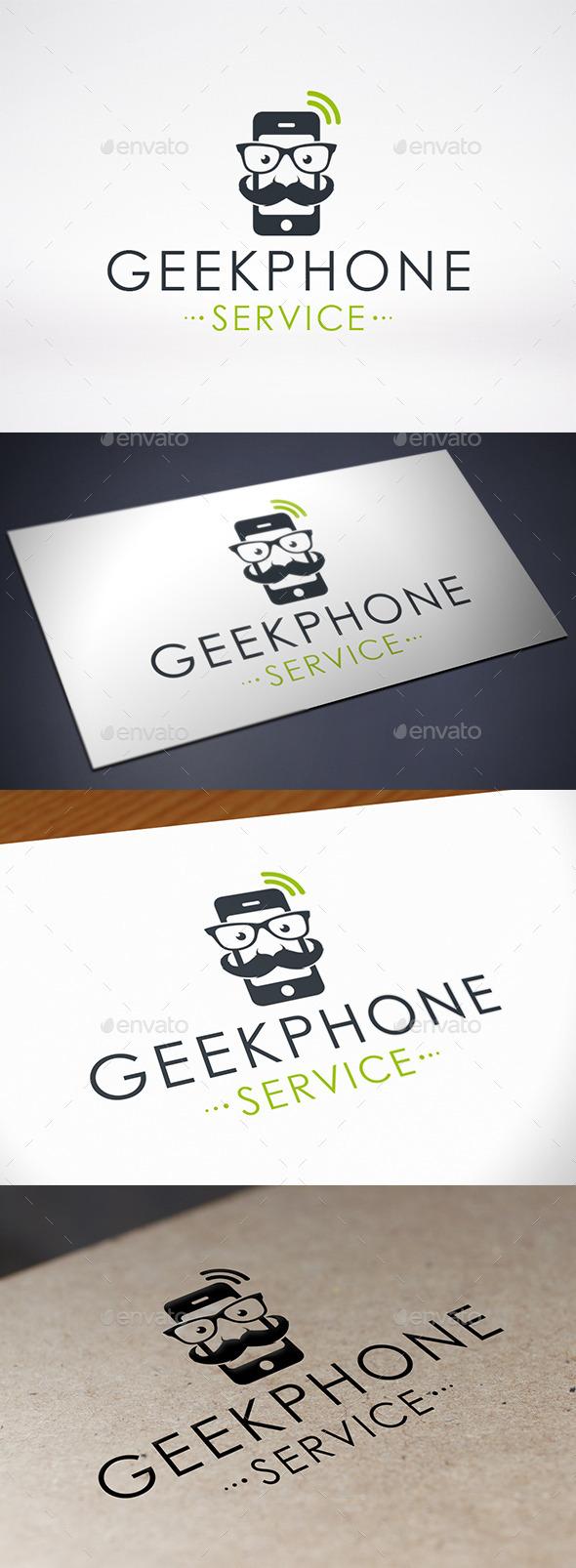 GraphicRiver Geek Phone Logo 9129273