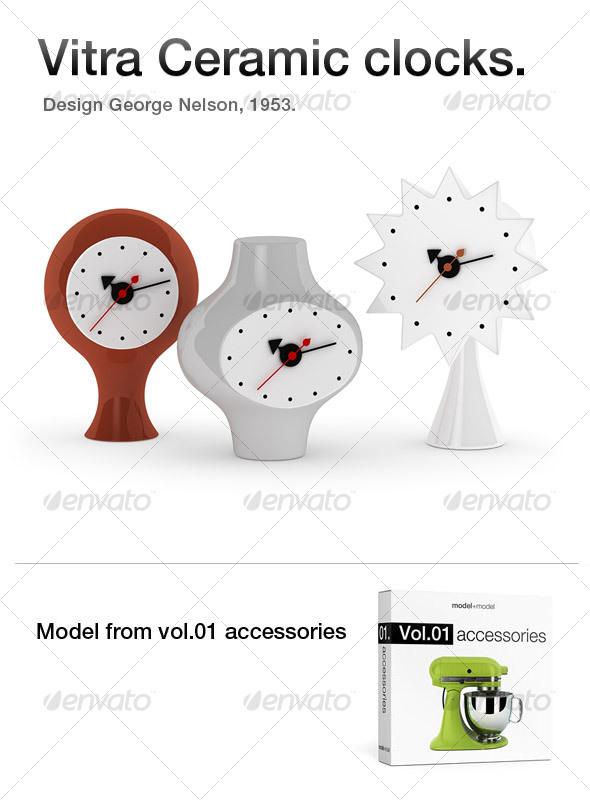3DOcean Vitra Ceramic clocks 117849
