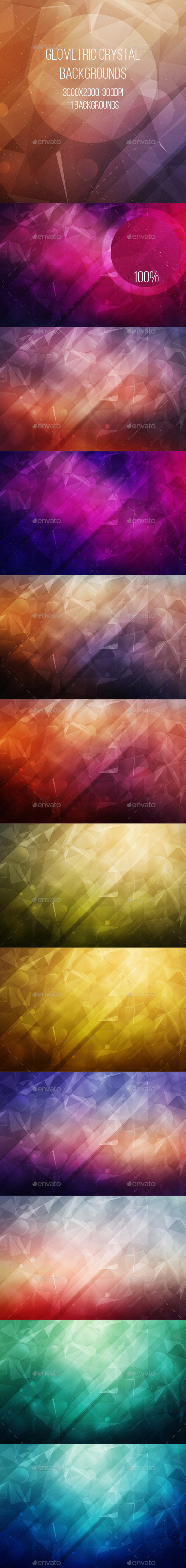 Geometric Crystal Backgrounds