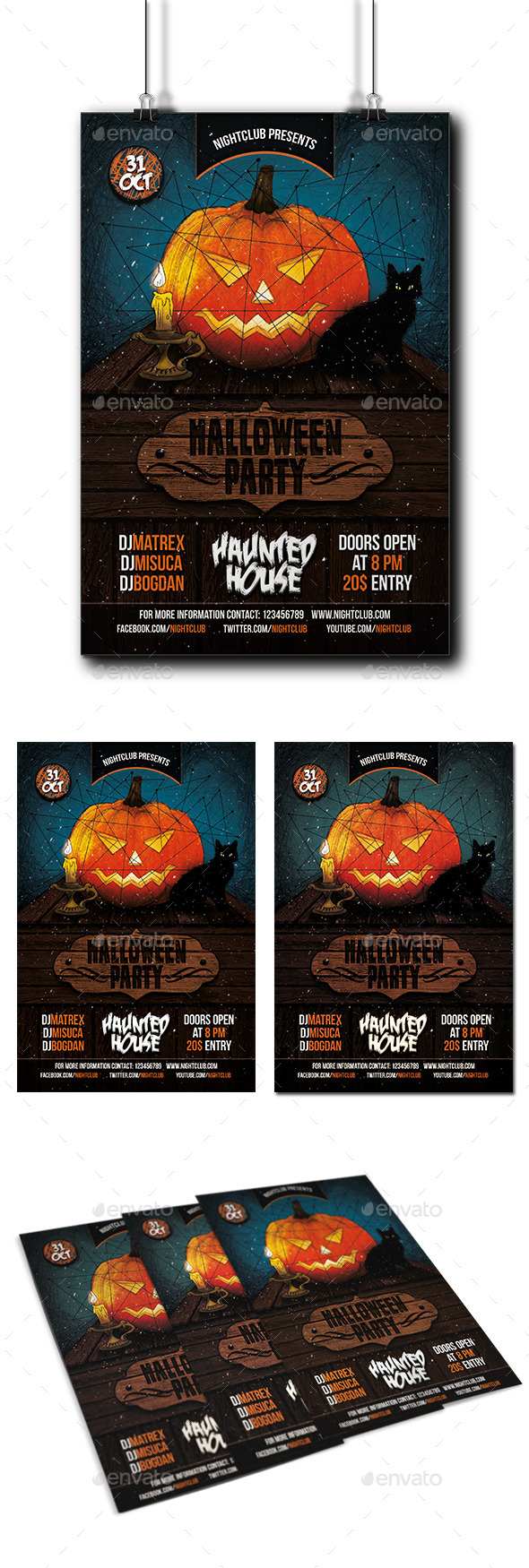GraphicRiver Halloween Party Flyer 9129426
