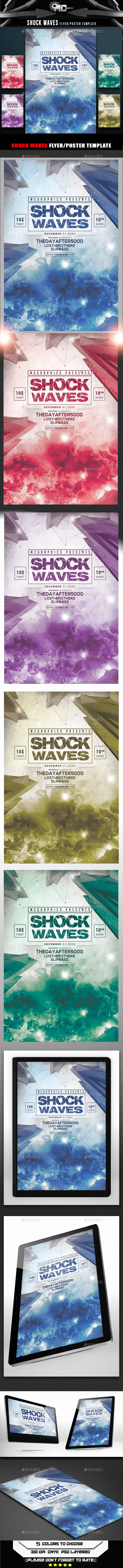 GraphicRiver Shock Waves Flyer Template 9129519