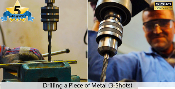 Drilling a Piece of Metal Package