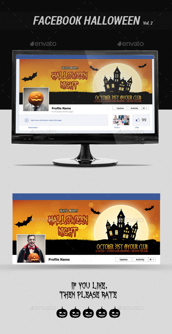 GraphicRiver Facebook Halloween Vol 2 9110040