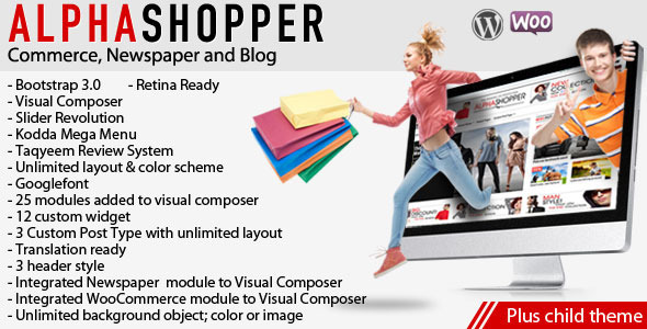 Alphashopper - Clean Newspaper and WooCommerce WP - WooCommerce eCommerce