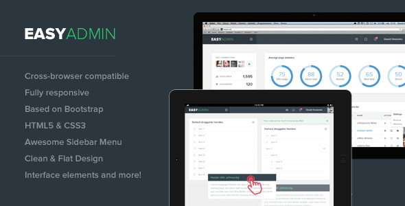 simple html admin template - easy admin responsive html template by webtunes
