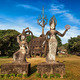Mythology and religious statues at Wat Xieng Khuan Buddha park. - PhotoDune Item for Sale