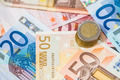 Euro banknotes and coins - PhotoDune Item for Sale