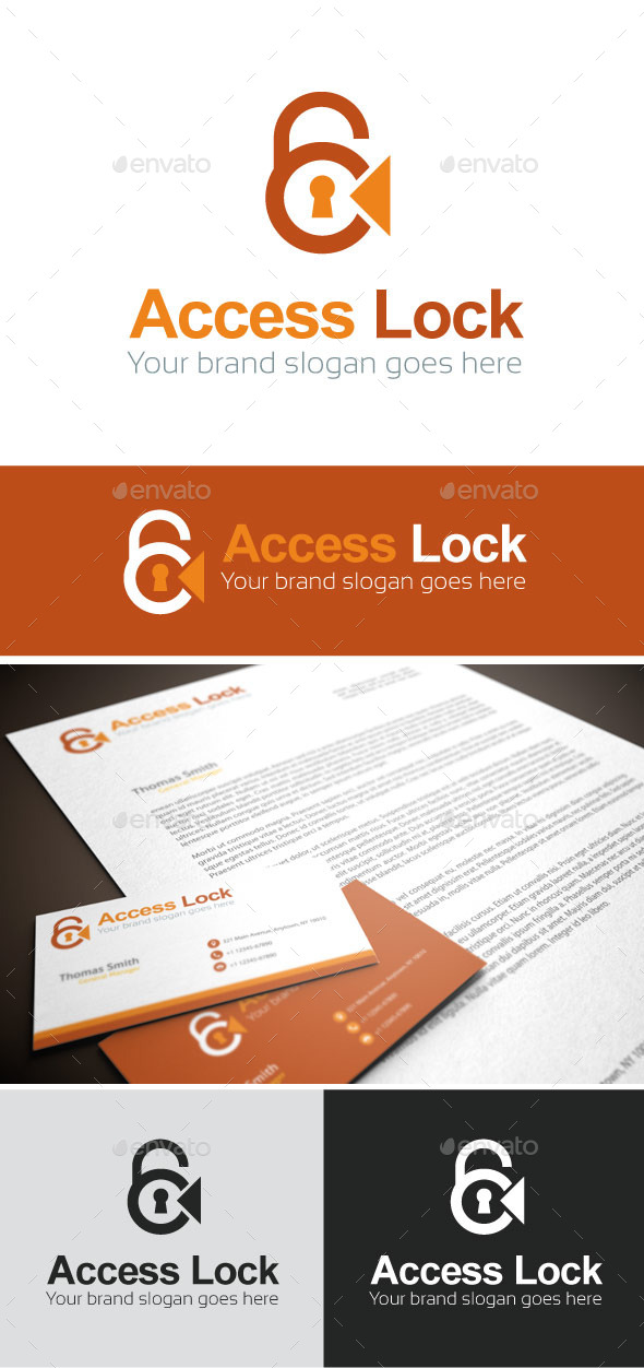 GraphicRiver Access Lock Logo Template 9132314