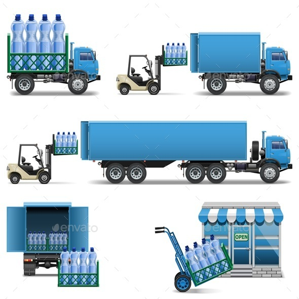 GraphicRiver Vector Mineral Water Shipping 9132320