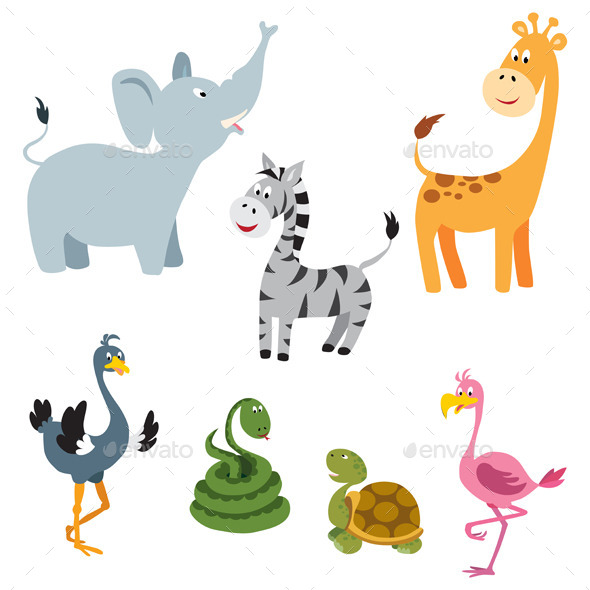 GraphicRiver African Animals set 9132324