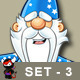 Blue Old Wizard Character - Set 3 - GraphicRiver Item for Sale