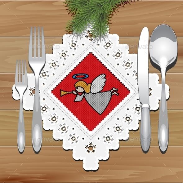 GraphicRiver Christmas Napkin Table 9132425