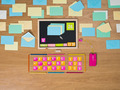 Colorful computer surrounded by mails - PhotoDune Item for Sale