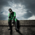 Pensive green superhero - PhotoDune Item for Sale