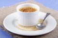 creme brulee in a porcelain bowl - PhotoDune Item for Sale