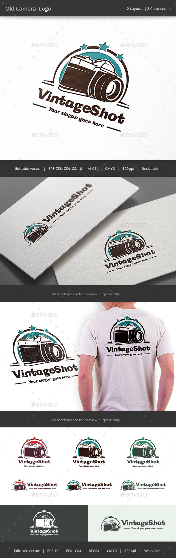 GraphicRiver Old Camera Logo 9132685
