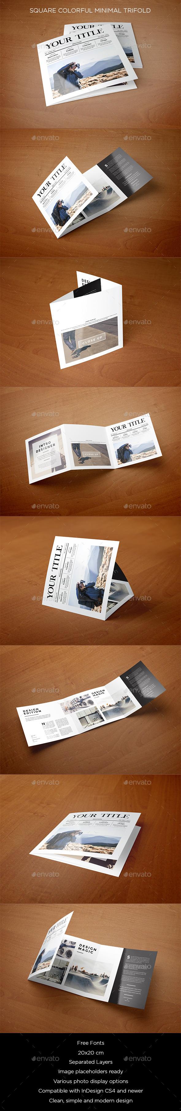 GraphicRiver Square Minimal Style Trifold 9132686