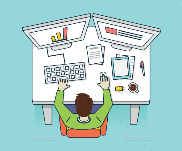 GraphicRiver Work Hard Process Management and Business 9132886