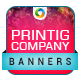 Printing Company Banners - GraphicRiver Item for Sale
