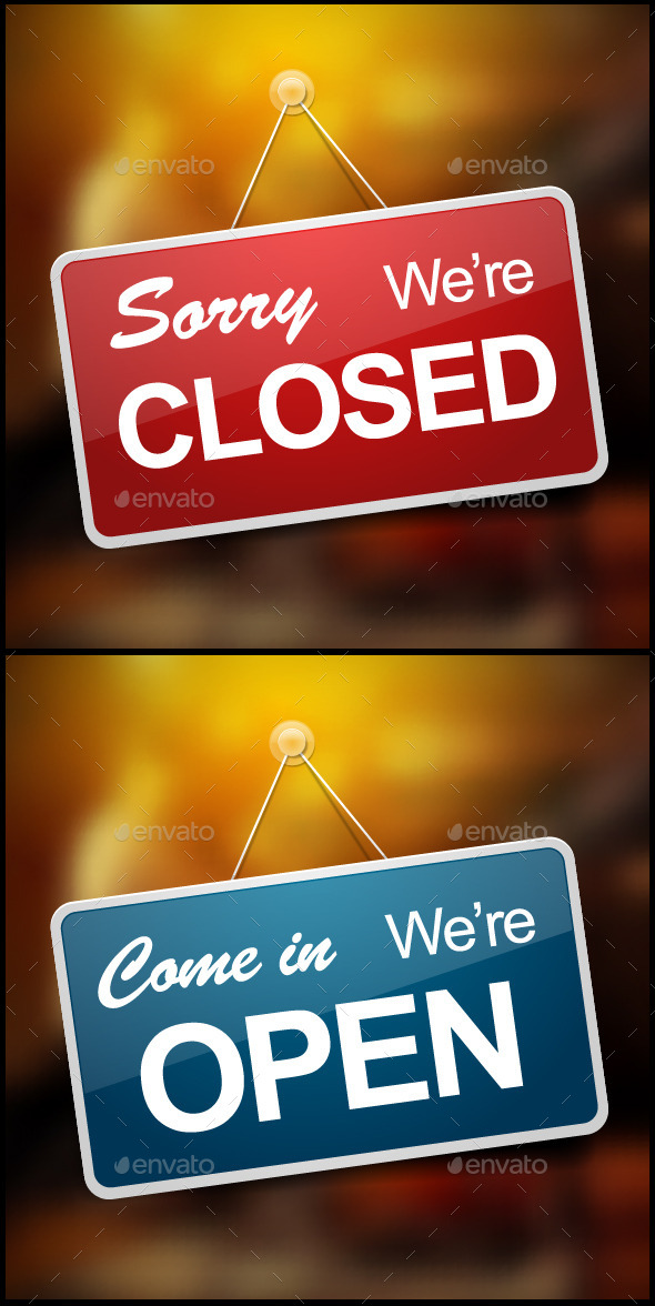 GraphicRiver Open and Closed Signs 9133739