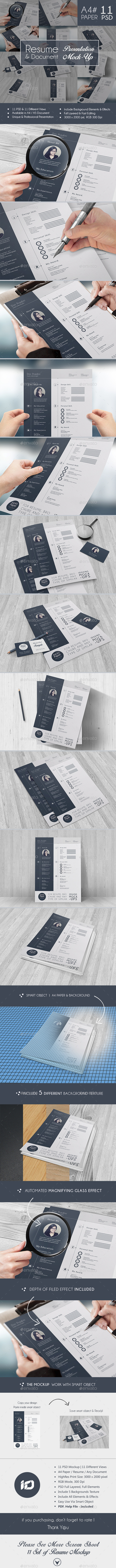 GraphicRiver CV Resume Mock-Up 9117259