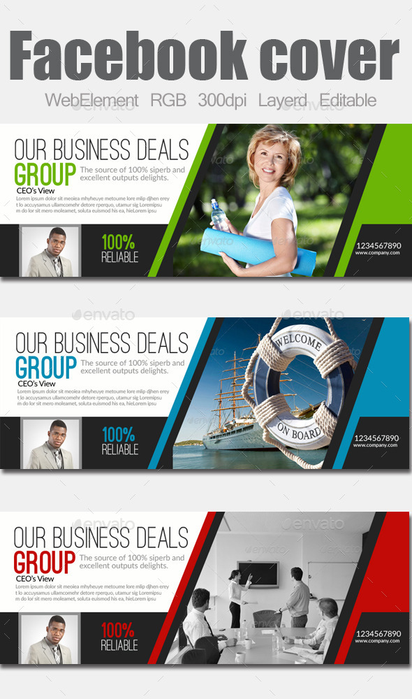 GraphicRiver Multi Use Business Facebook Cover 9133839