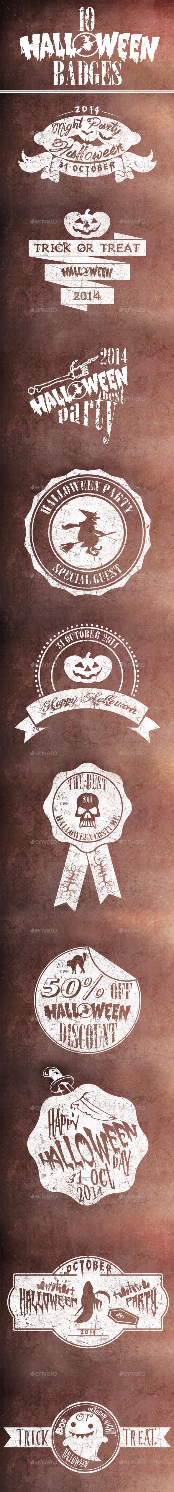 GraphicRiver 10 Halloween Badges 9133956