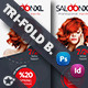 Beauty Saloon Trifold Bundle Templates - GraphicRiver Item for Sale