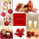 Christmas Set. Winter Holiday Gifts. Golden and Red Collage - PhotoDune Item for Sale