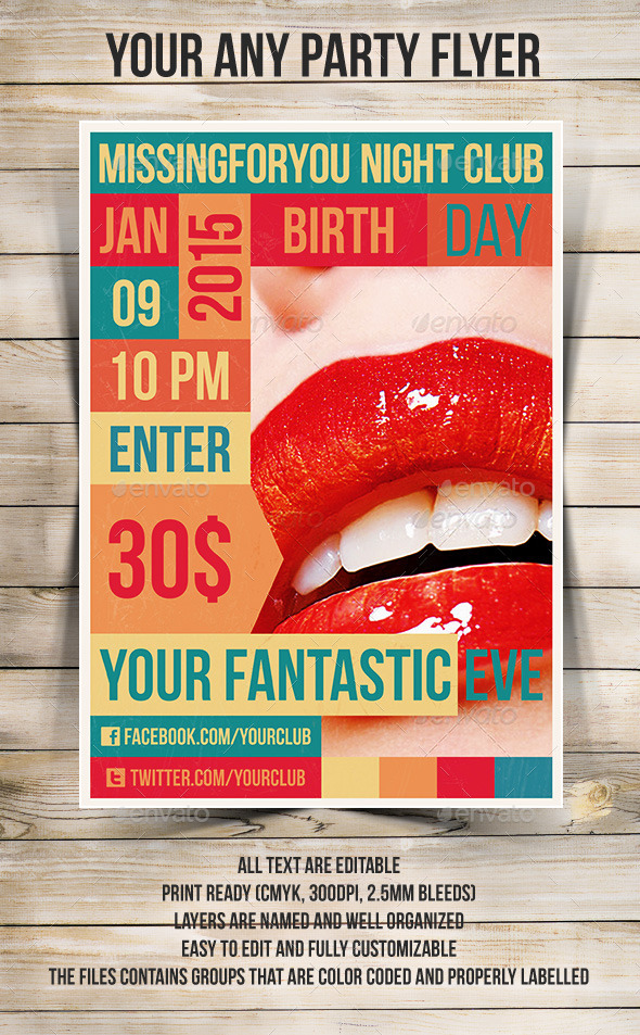 GraphicRiver Party Flyer 9134697
