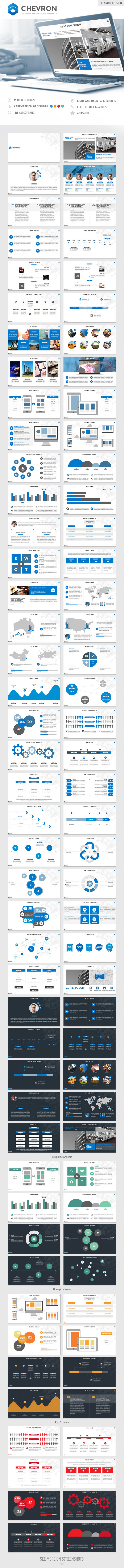 GraphicRiver Chevron Keynote Presentation Template 9134823