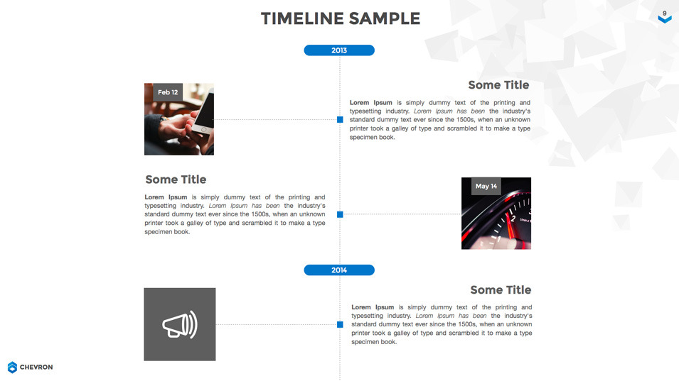Chevron Keynote Presentation Template by Jetz – Sample Keynote Timeline