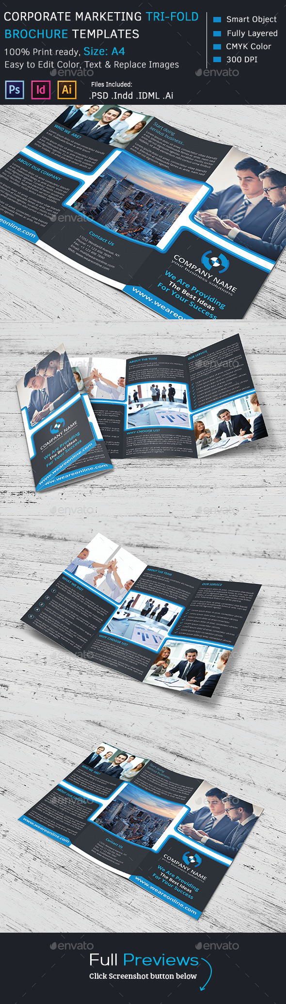 GraphicRiver Corporate Marketing Tri-Fold Brochure 9134925