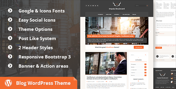 ThemeForest Impala Boulevard Blog Magazine WordPress Theme 9059506