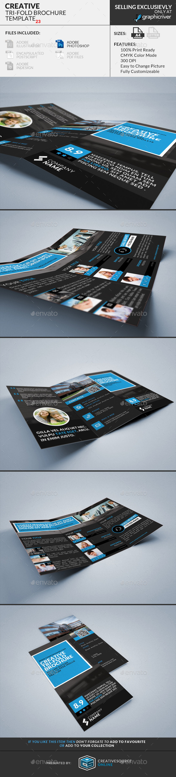 GraphicRiver Trifold Brochure 23 Creative 9135379