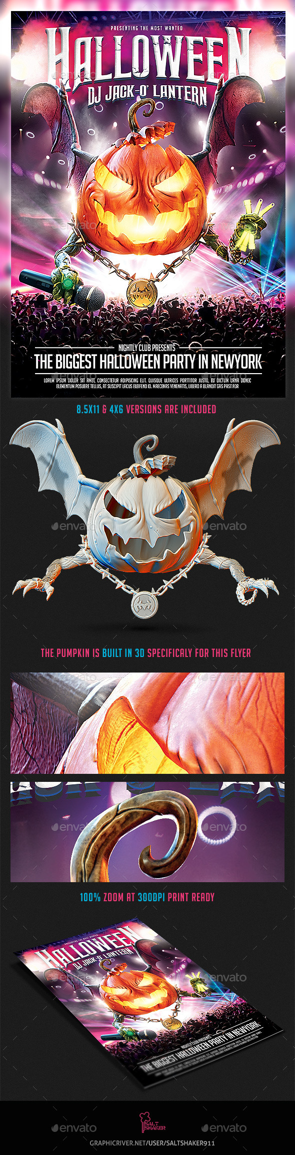 GraphicRiver Halloween Dj Party Flyer 9135407