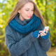 Young woman using a mobile outdoors in autumn - PhotoDune Item for Sale
