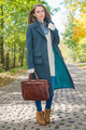Young Woman in Autumn Season Attire at Pathway - PhotoDune Item for Sale