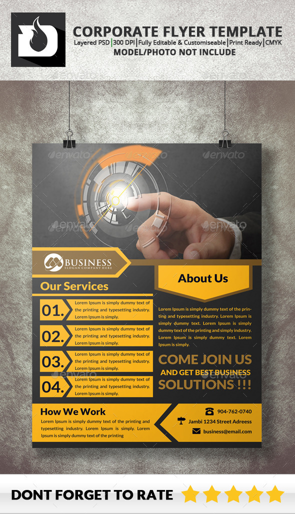 GraphicRiver Corporate Flyer Template 9115448