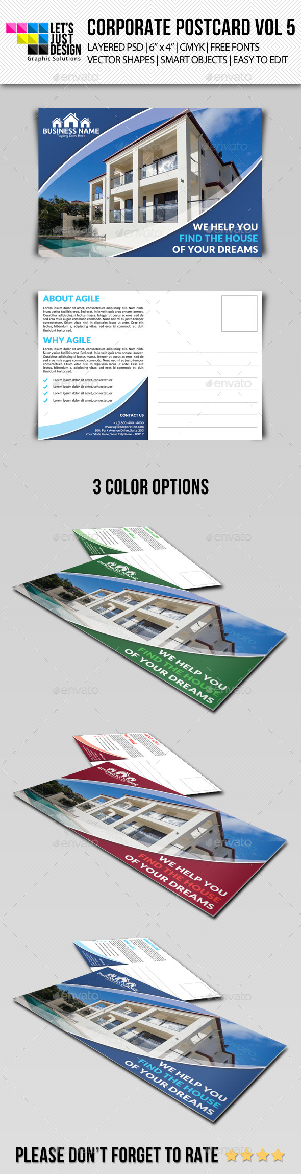 GraphicRiver Corporate Postcard Template Vol 5 9135410